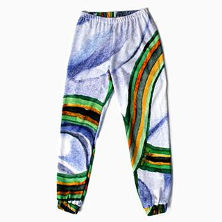 PAOM, Print All Over Me, digital print, design, fashion, style, collaboration, degen, Sweatpant, Sweatpant, Sweatpant, Blue, Rainbow, Thread, autumn winter, unisex, Poly, Bottoms