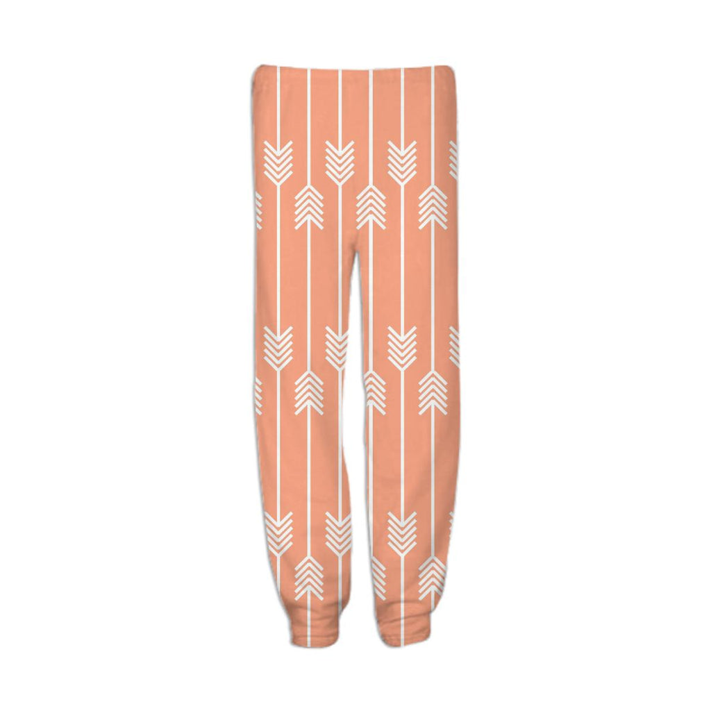 White Arrows on Peach Sweatpant