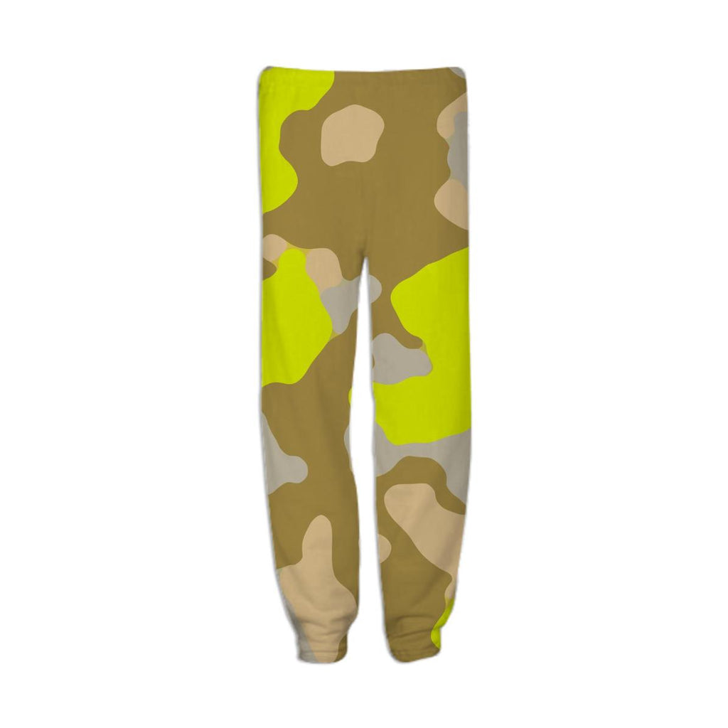 YELLOW CAMOUFLAGE SWEATPANT