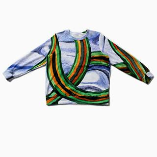 Blue Rainbow Thread Sweatshirt