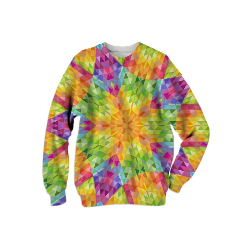 Colorful Geometric Crystal Sweatshirt