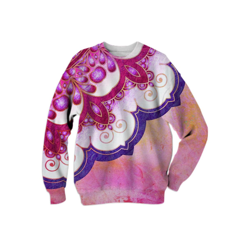 Colorful Watercolor Mandala Sweatshirt