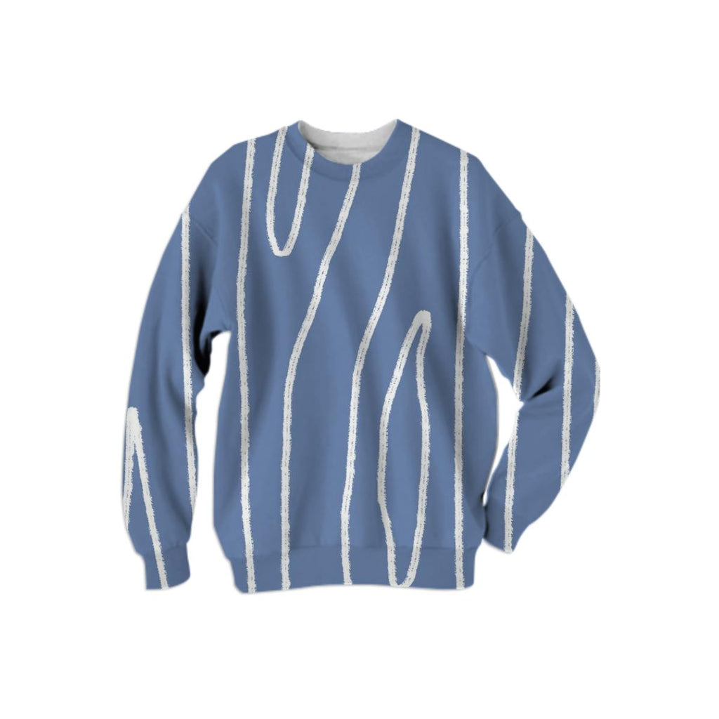 Large print Woodgrain Impression Sweater Blue