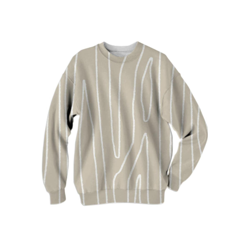 Large print Woodgrain Impression Sweater Coffee