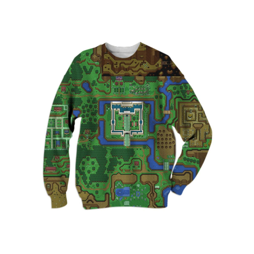 Legend of Zelda A Link to the Past Overworld Map Swearshirt