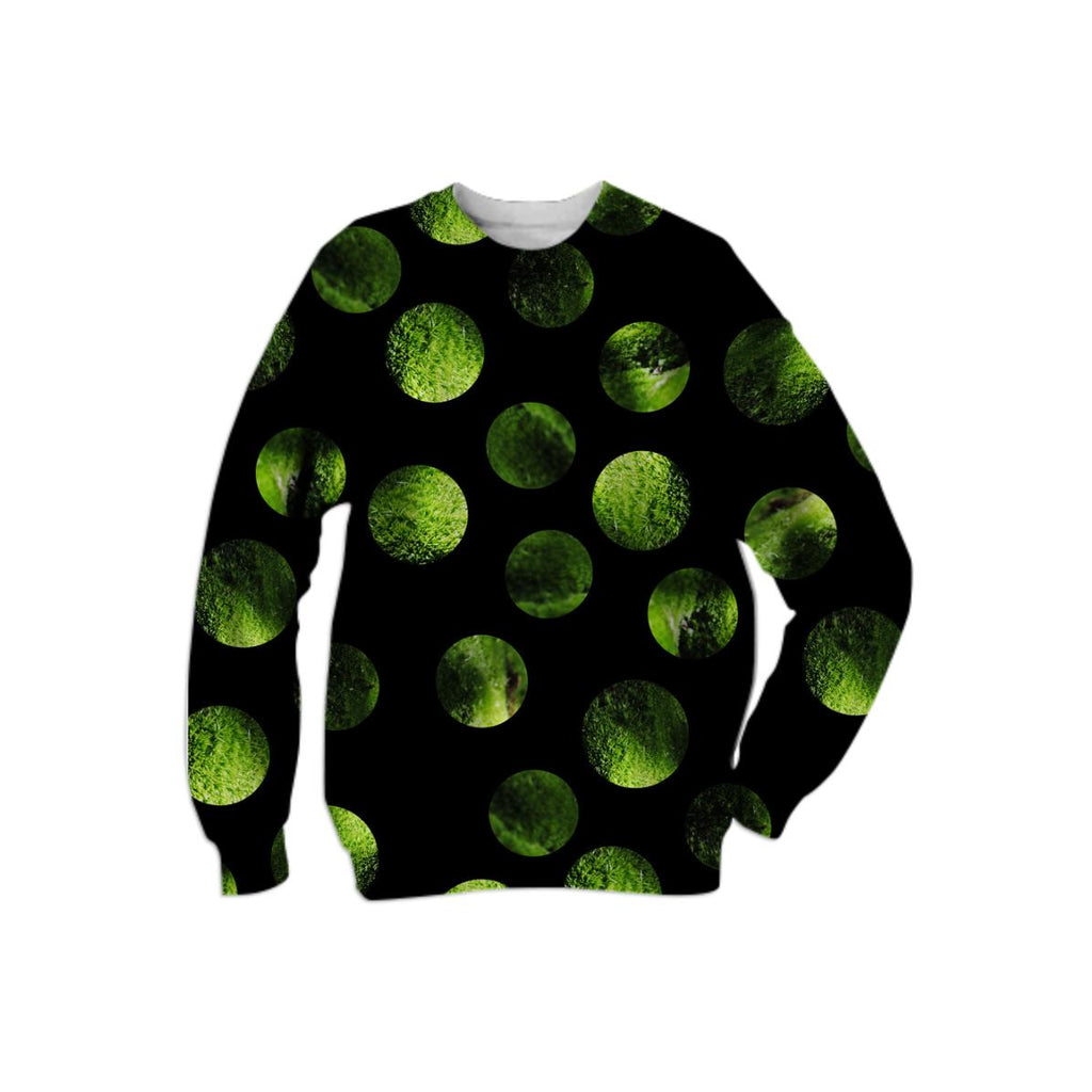 my favorite black and green together moss polka dots