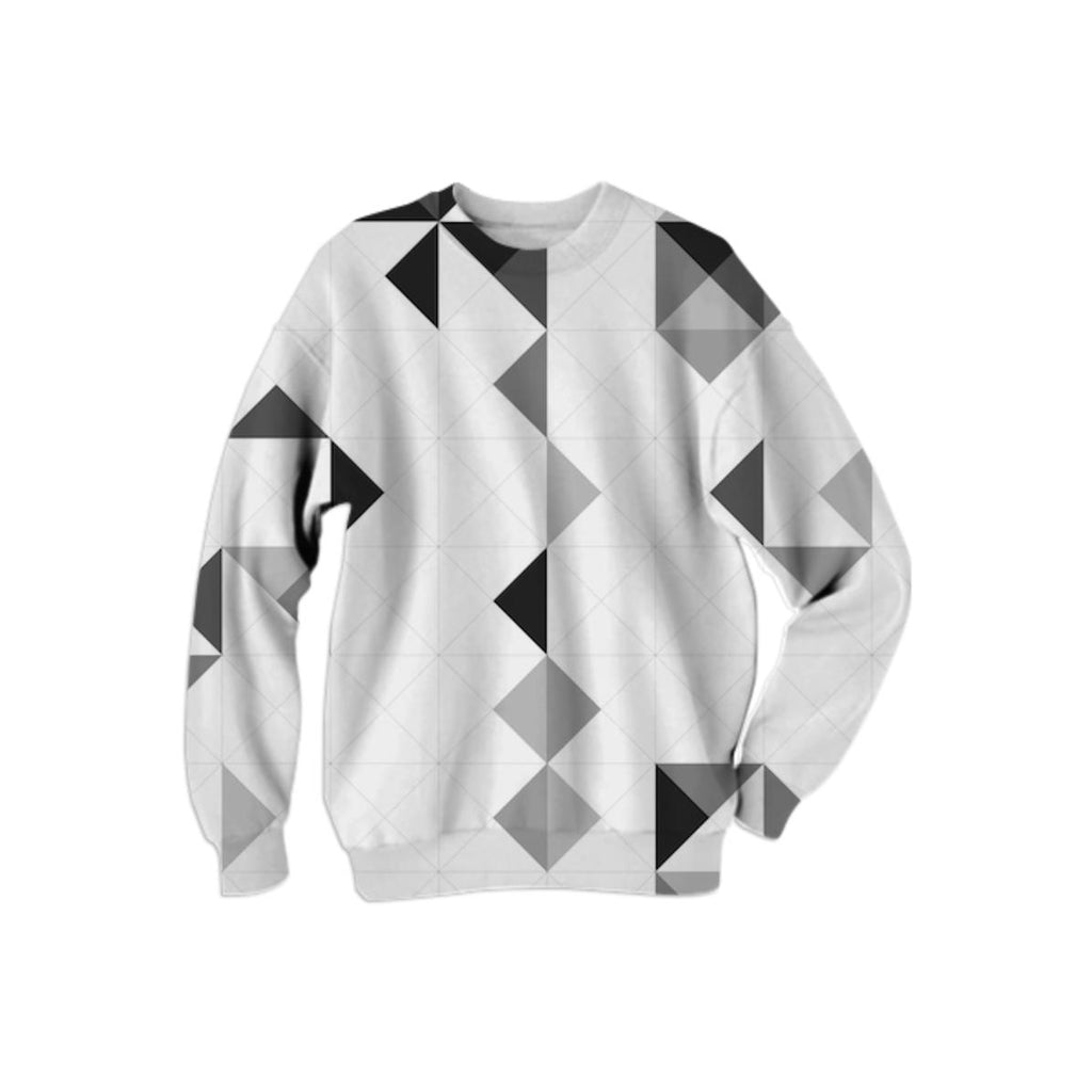 PAOM, Print All Over Me, digital print, design, fashion, style, collaboration, various-projects, various projects, Cotton Sweatshirt, Cotton-Sweatshirt, CottonSweatshirt, OLAF, NICOLAI, GREYSCALE, PATTERN, autumn winter, unisex, Cotton, Tops