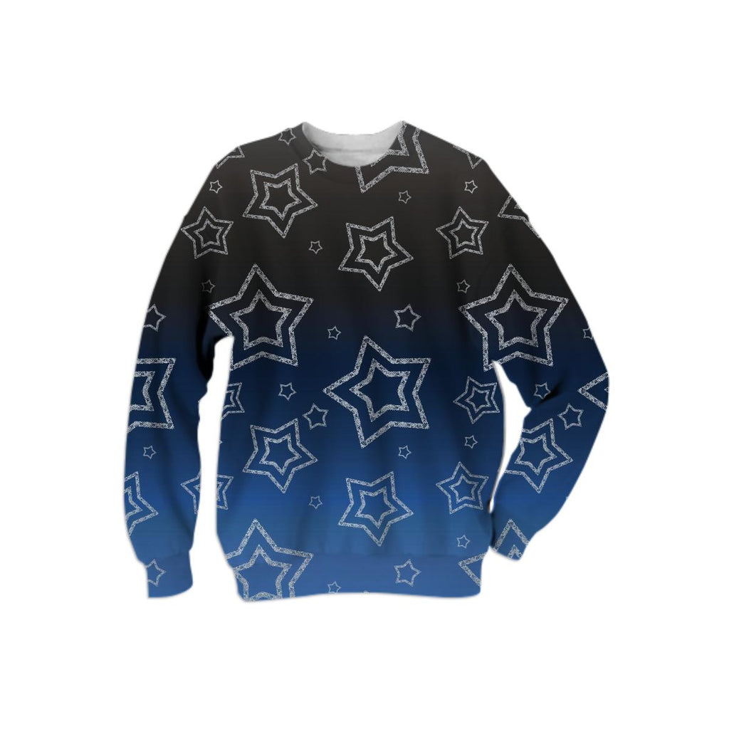 Ornated Silver Stars Sweatshirt
