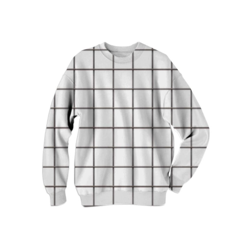 PAOM, Print All Over Me, digital print, design, fashion, style, collaboration, various-projects, various projects, Cotton Sweatshirt, Cotton-Sweatshirt, CottonSweatshirt, BLACK, GRID, autumn winter, unisex, Cotton, Tops