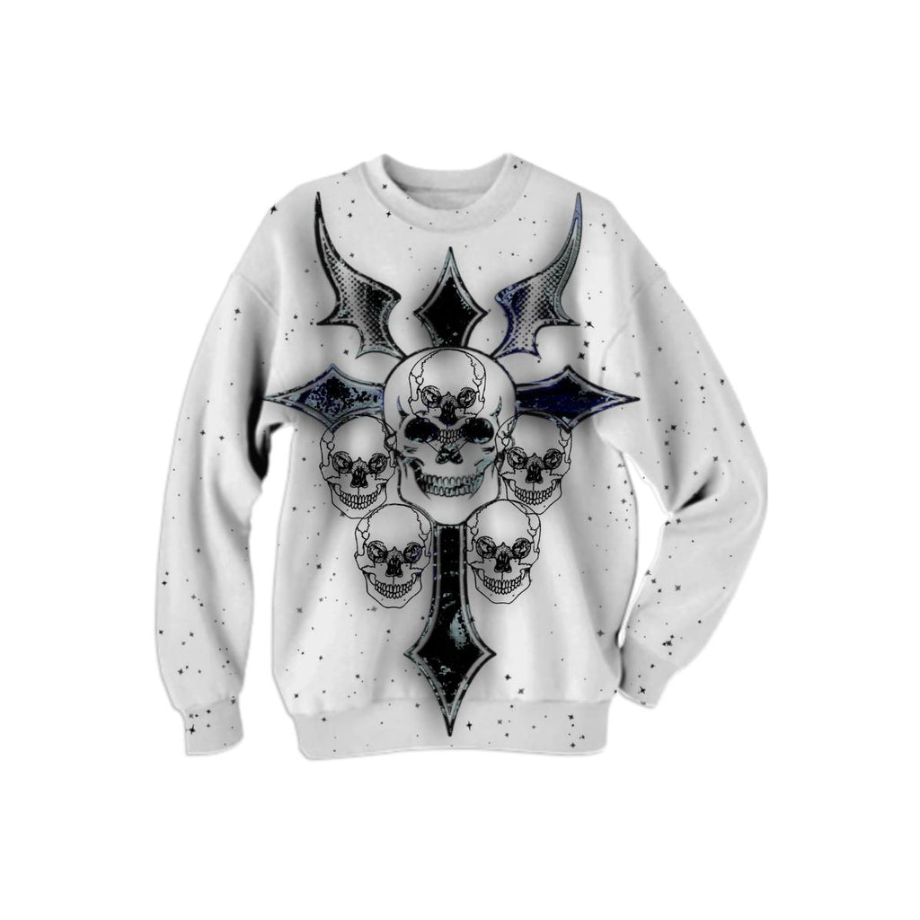 Sweatshirt with Skulls and Stars