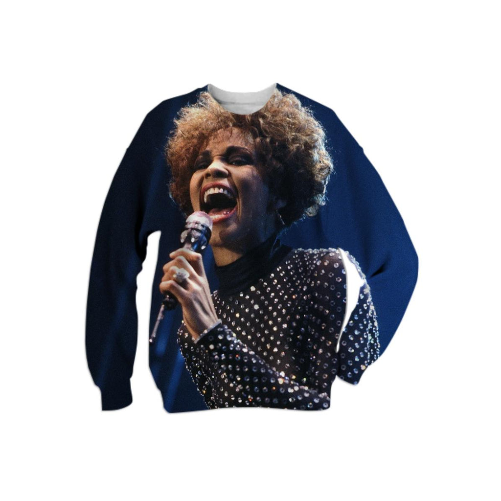 Whitney Houston I m Your Baby Tonight Tour All Over Sweat shirt