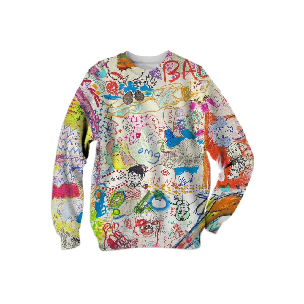 YTB 7 PATTERN X Print All Over Me Sweatshirt