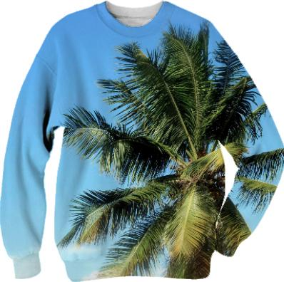tropical palm SWEATSHIRT