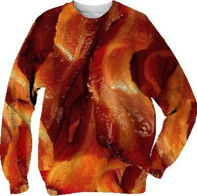 Bacon print sweater