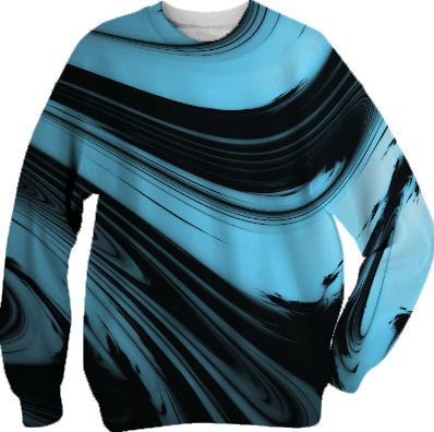 Black and Blue Tie Dye Sweater