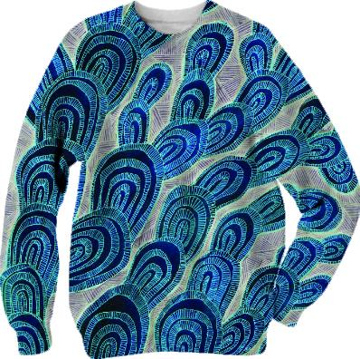 blue fungus sweatshirt