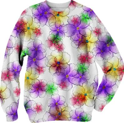 CANDY FLOWERS LONG SLEEVE SWEATSHIRT