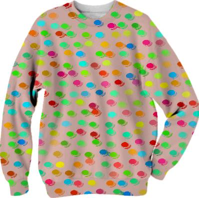 Colorful polka dots pattern