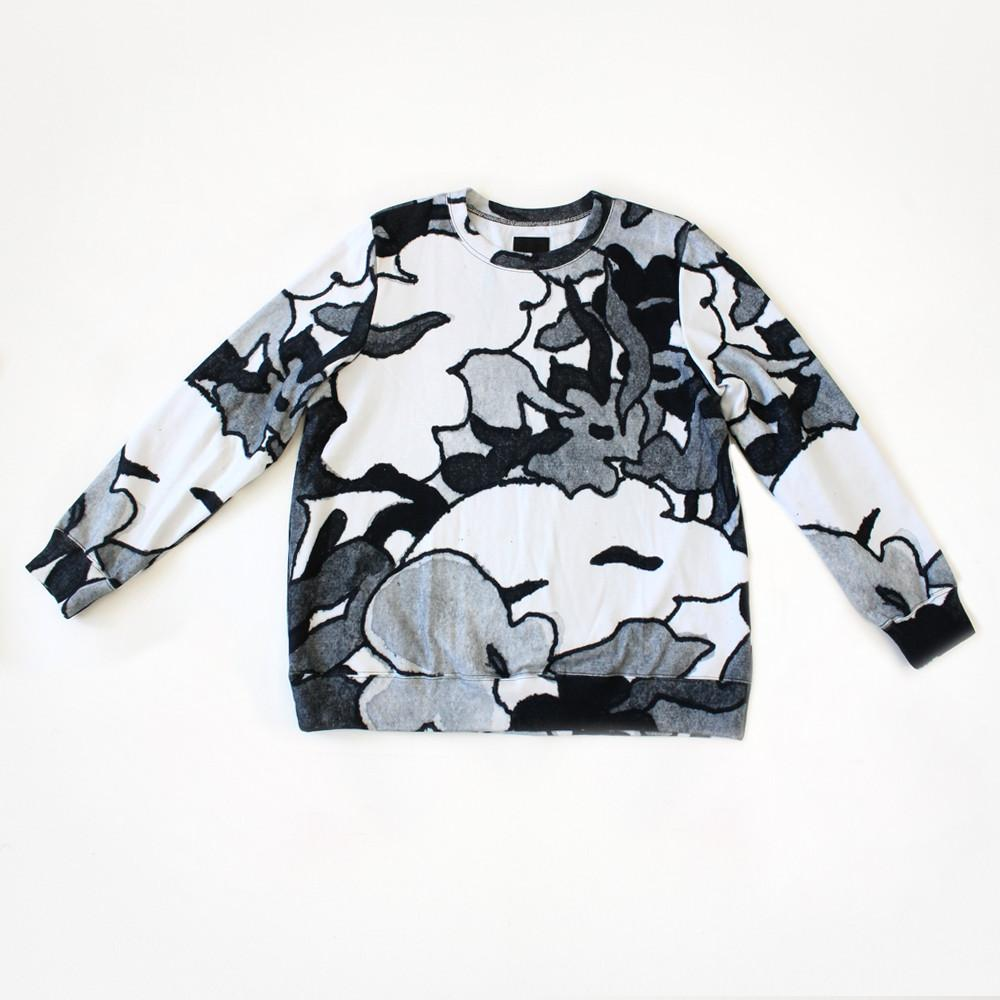 MELTED FLORAL SWEATSHIRT