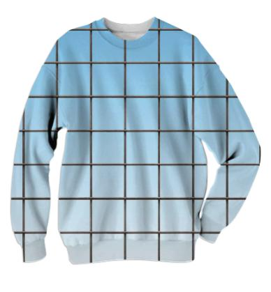 PAOM, Print All Over Me, digital print, design, fashion, style, collaboration, various-projects, various projects, Cotton Sweatshirt, Cotton-Sweatshirt, CottonSweatshirt, CLEAR, SKY, GRID, autumn winter, unisex, Cotton, Tops