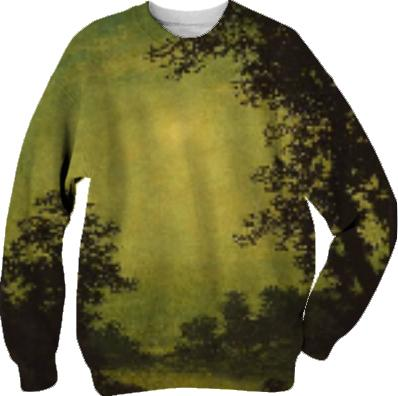 sunset tinted verdana painting sweatshirt