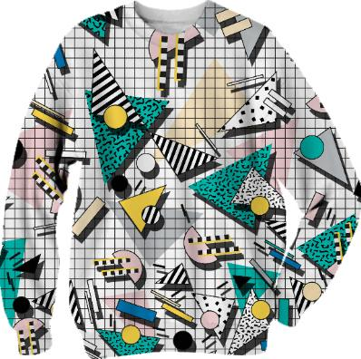 PAOM, Print All Over Me, digital print, design, fashion, style, collaboration, camille-walala, camille walala, Cotton Sweatshirt, Cotton-Sweatshirt, CottonSweatshirt, WALALA, JUMPER, autumn winter, unisex, Cotton, Tops