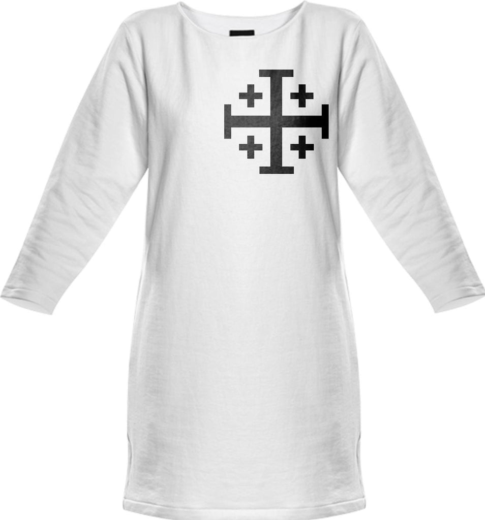 Crusader Cross SWEATSHIRT DRESS