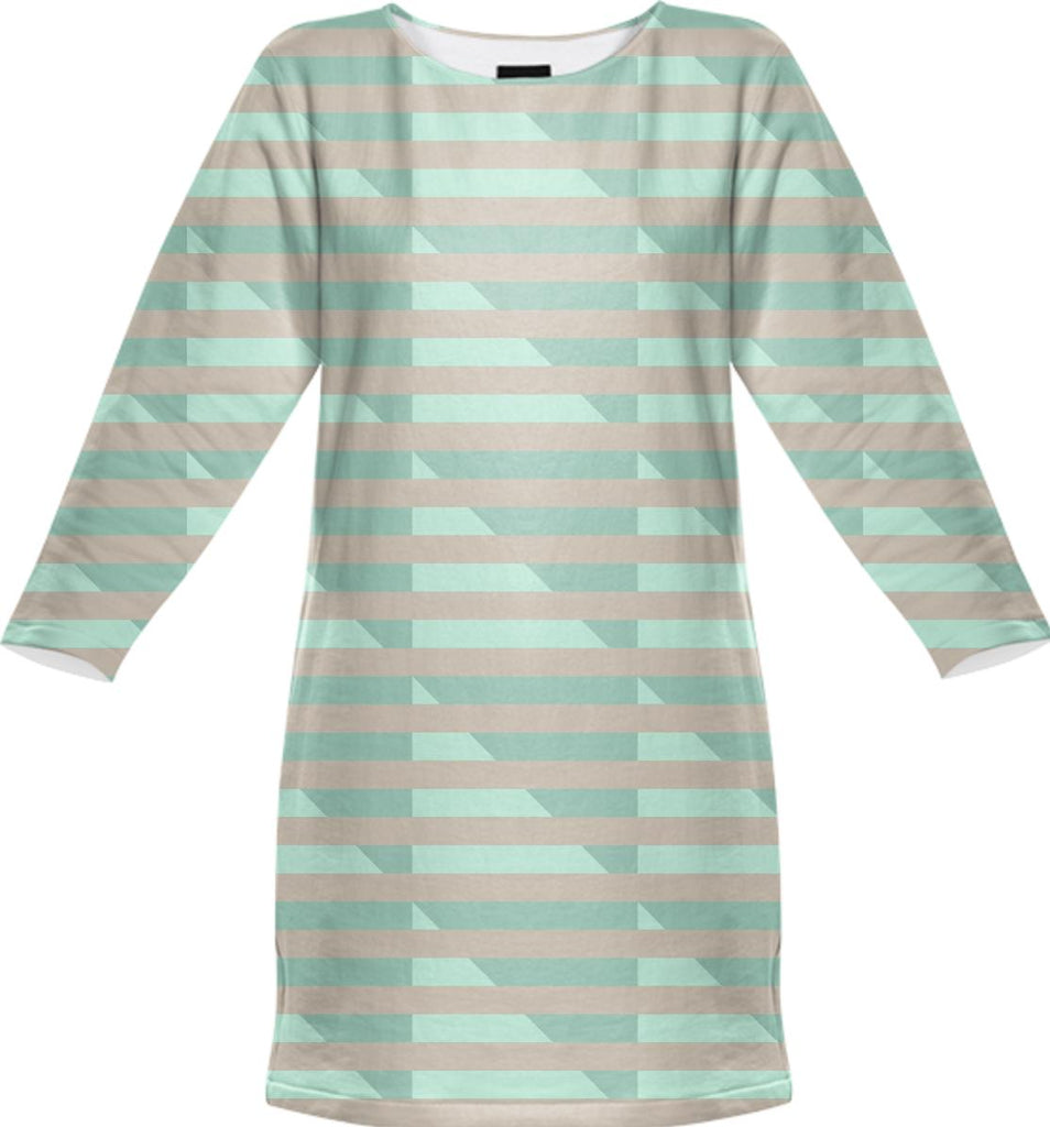 Doublemint Houndstooth Sweatshirt Dress