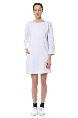 Plain White Sweatshirt Dress