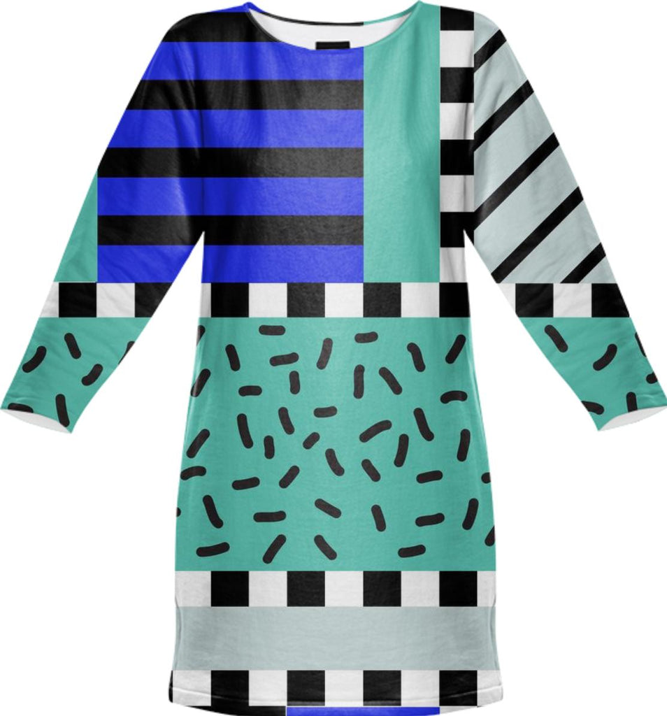 PAOM, Print All Over Me, digital print, design, fashion, style, collaboration, camille-walala, camille walala, Sweatshirt Dress, Sweatshirt-Dress, SweatshirtDress, sweatshirtdress, autumn winter, unisex, Poly, Dresses