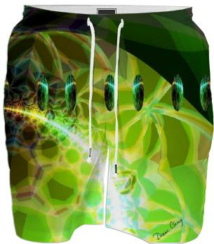 Dawn of Time Abstract Fractal Lime and Gold Emerge