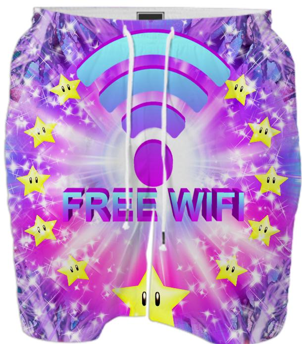 FREE WIFI SWIM SHORT