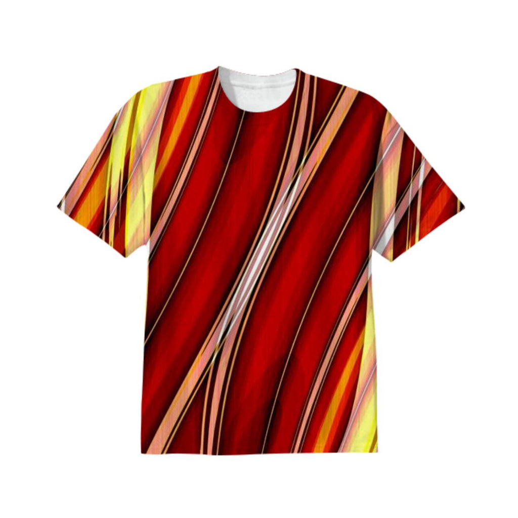 Abstract lines orange T Shirt