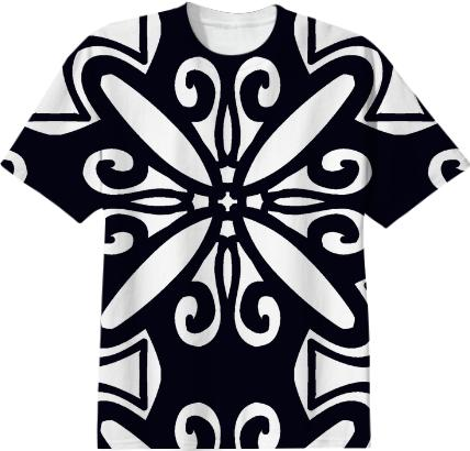Black and White Pattern TShirt