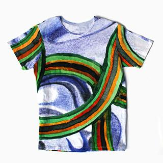 Blue Rainbow Thread T shirt