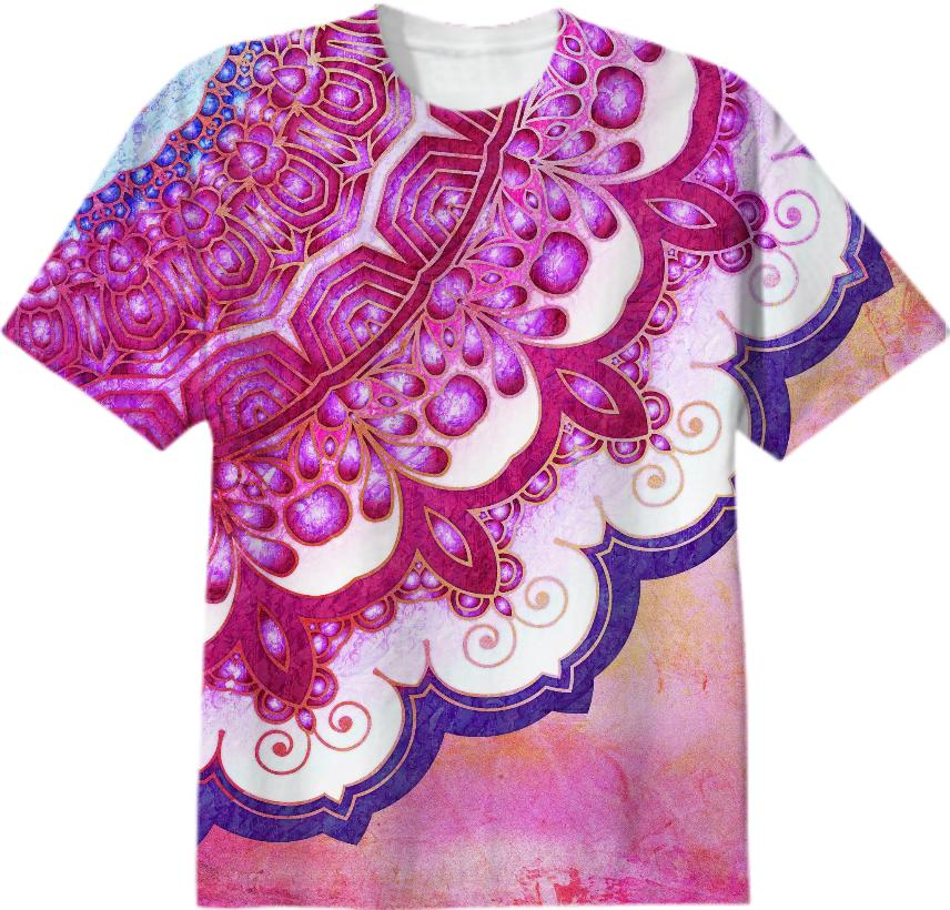 Colorful Watercolor Mandala T Shirt