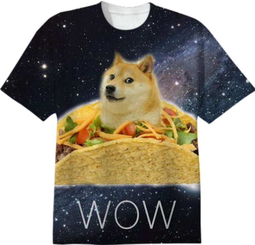 DOGE SHIRT WOW SUCH TACO