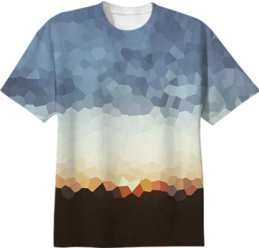 Early Evening Sunset Crystal Tee Mens Only