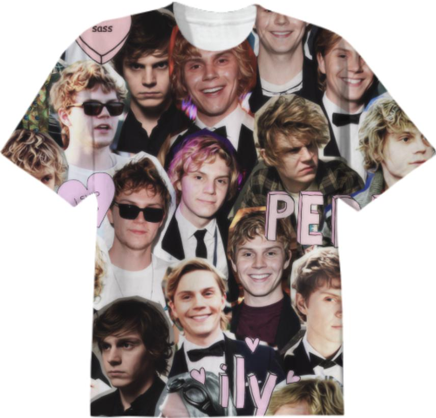 Evan Peters Collage shirt