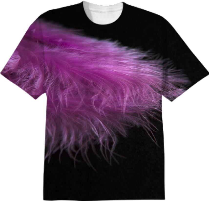 Feather in purple