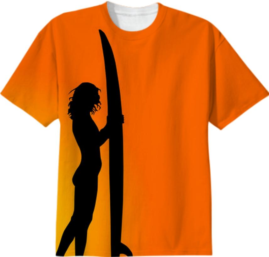 girl surfer tee