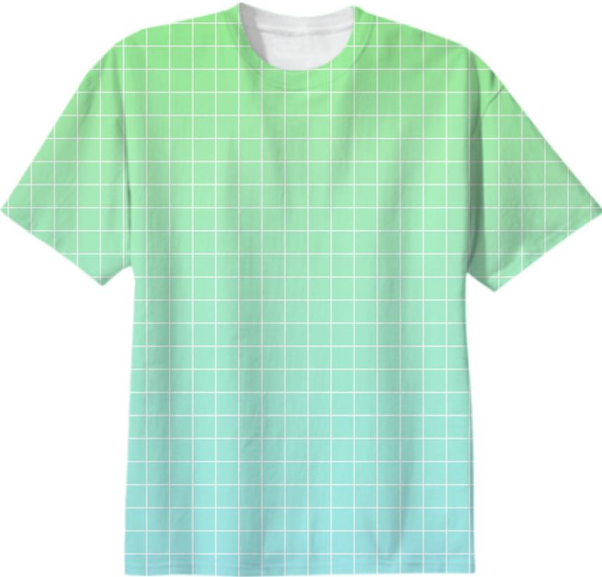 Green Blue Gradient with Grid