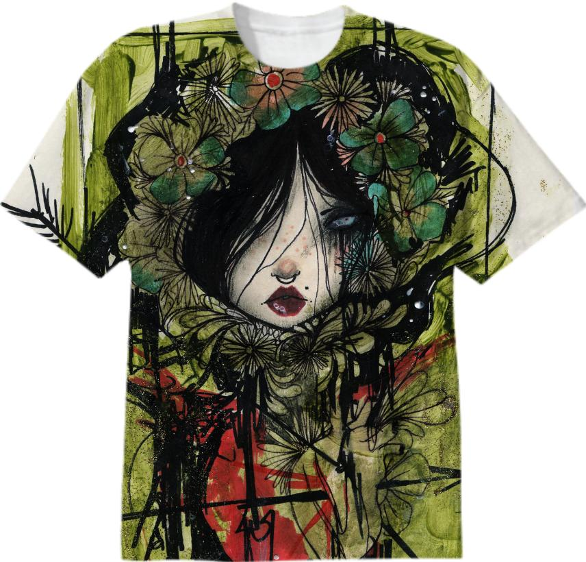 green girl t shirt