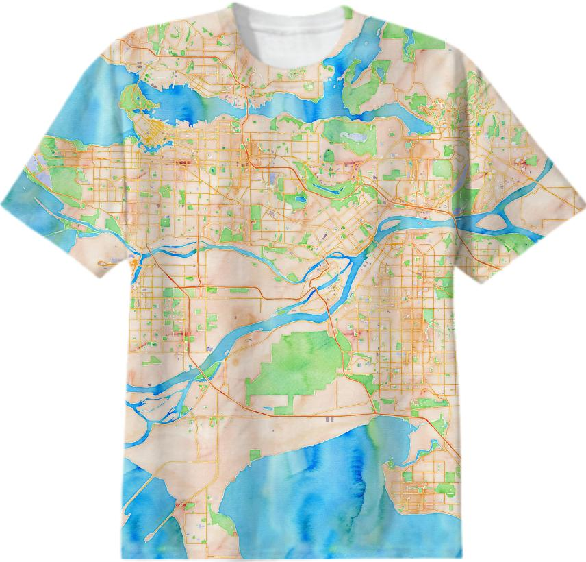 Metro Vancouver Watercolour T Shirt