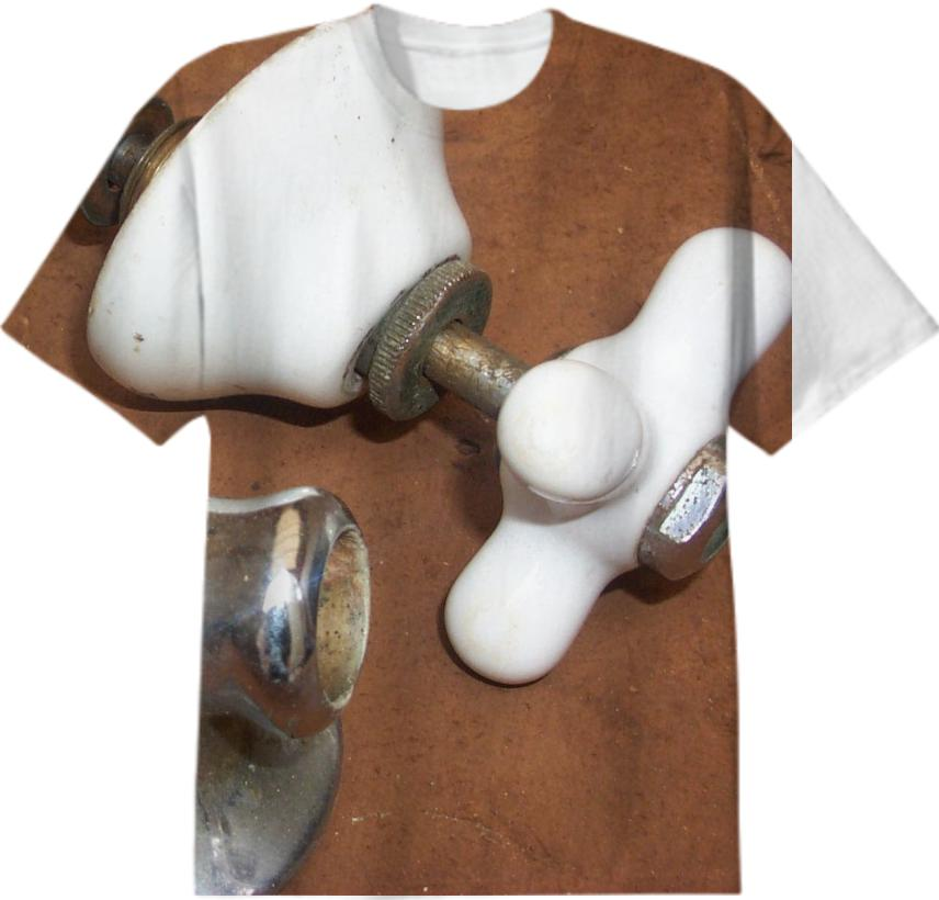 old faucet handle and spout t shirt