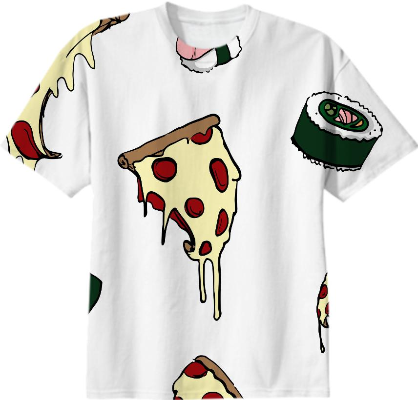 Pizza and Sushi tee