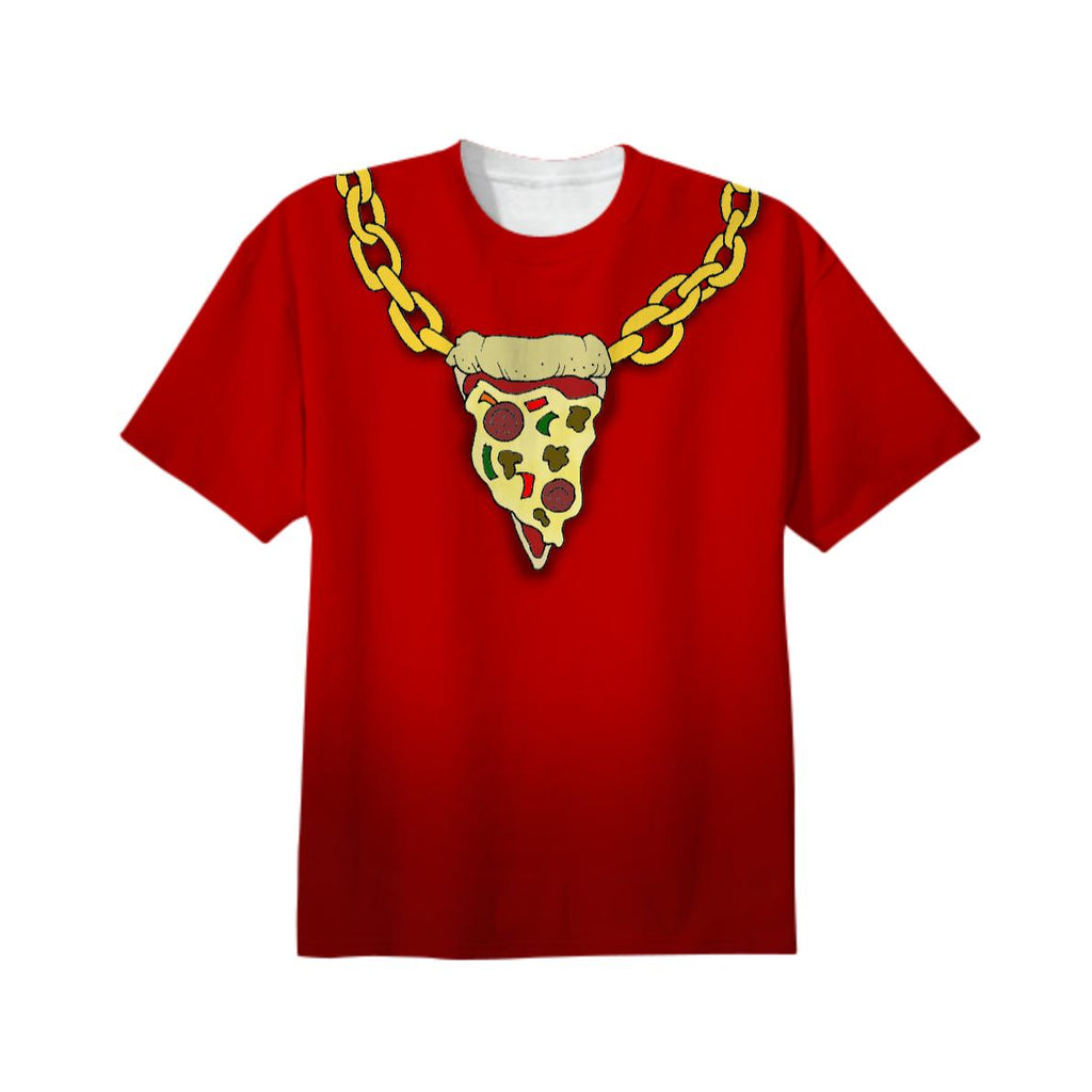 Pizza Bling Red Unisex Tee