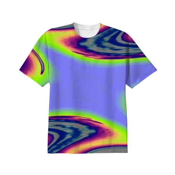 Purple Green Brown Abstract T Shirt
