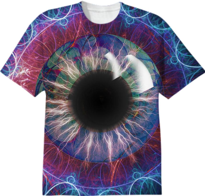 Tesla s Eye Fractal Design T shirt