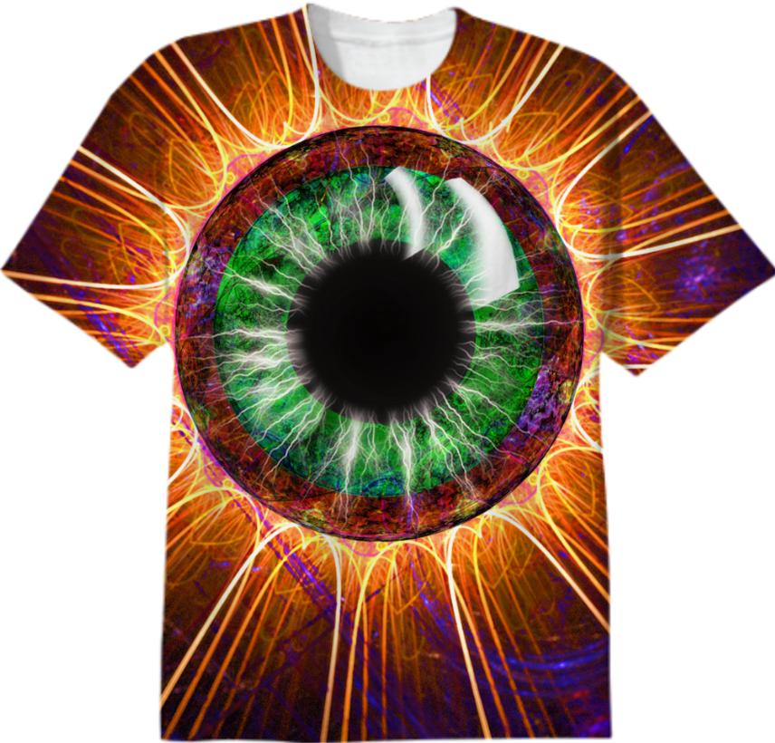 Tesla s Other Eye Fractal Design T Shirt
